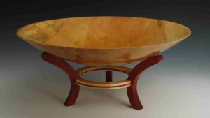 bowl on stand